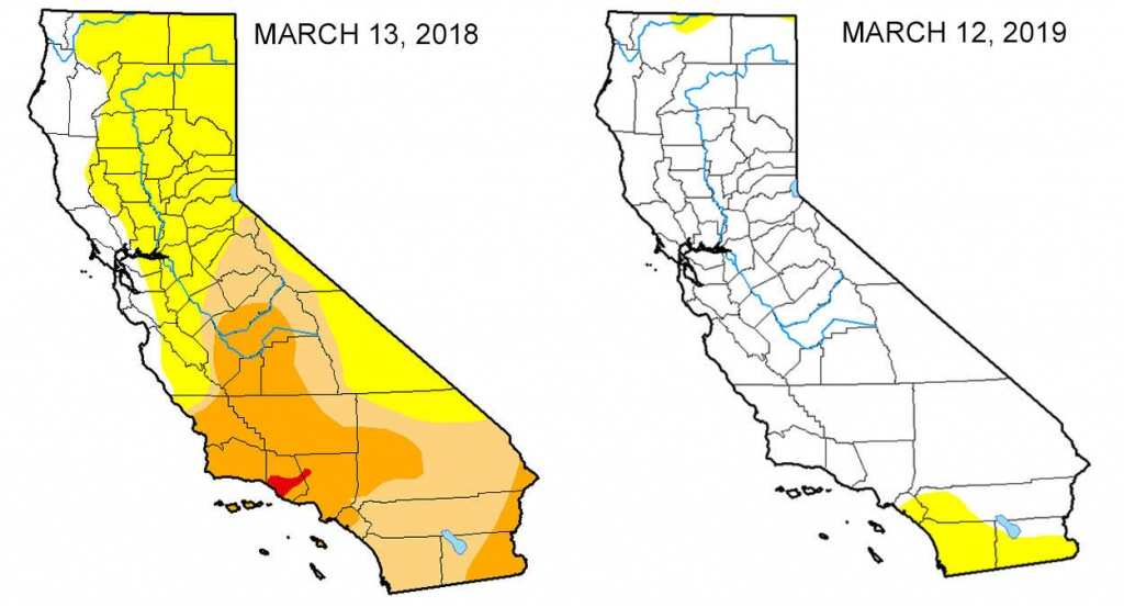 Map: Look At The Drought Difference In California From One Year Ago - California Drought Map
