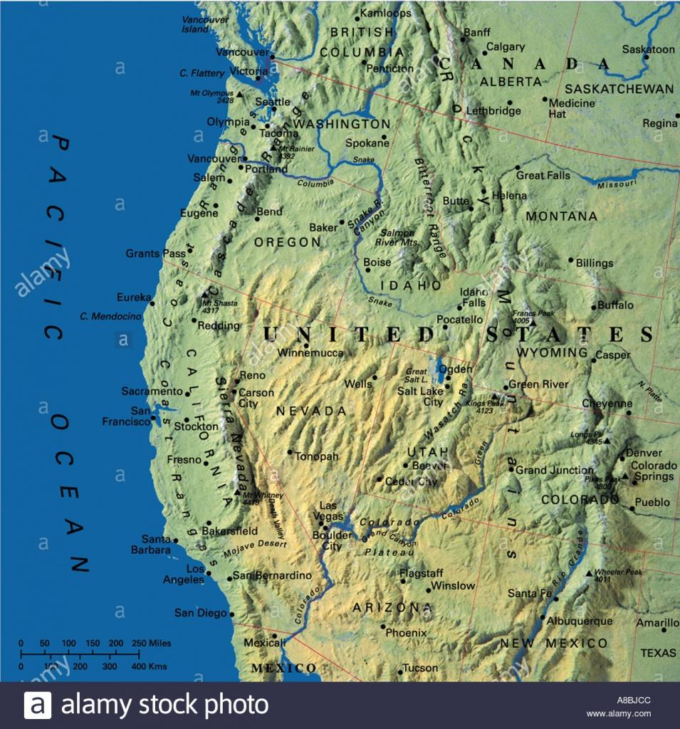 Map Maps Usa California Oregon Washington State Stock Photo: 3933899 - Map Of Oregon And California