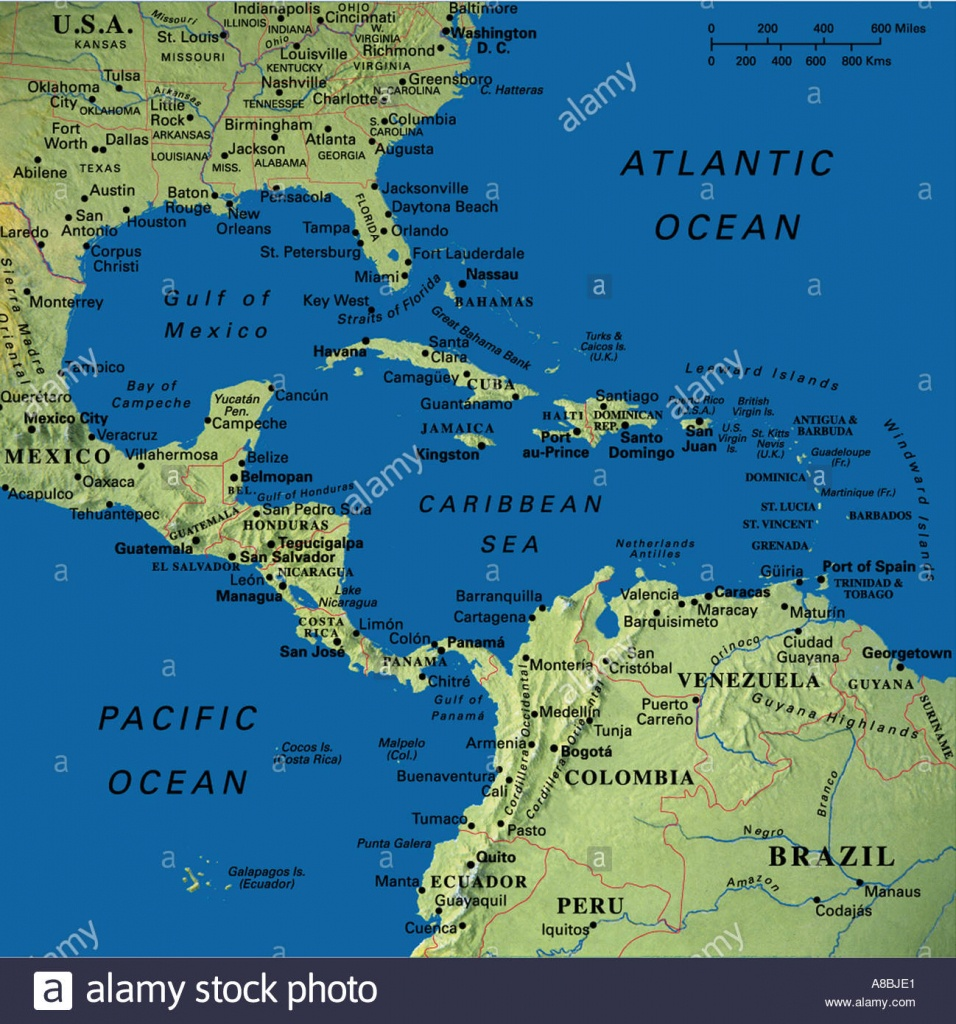 Map Maps Usa Florida Canada Mexico Caribbean Cuba South America - Mexico Florida Map