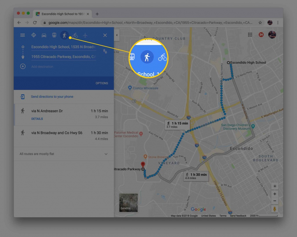 Map My Walk! Get Walking Directions With Google Maps - Printable Directions Google Maps
