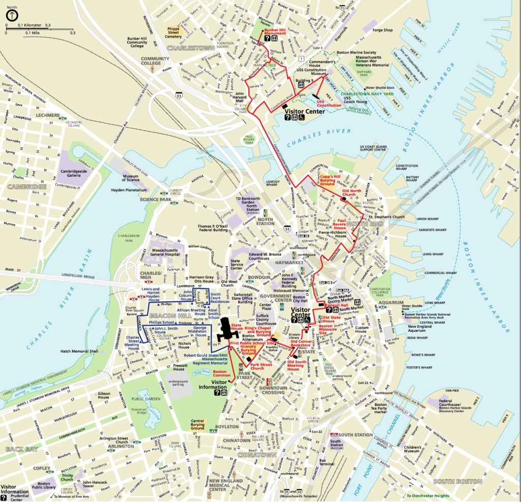 Map | Northendboston - Boston City Map Printable