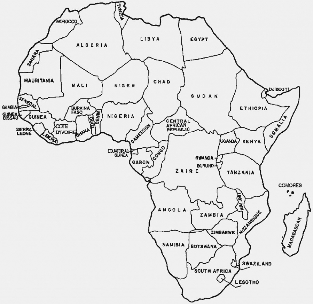Map Of Africa Coloring Page Outline Map Of Africa With Countries - Printable Map Of Africa With Countries Labeled