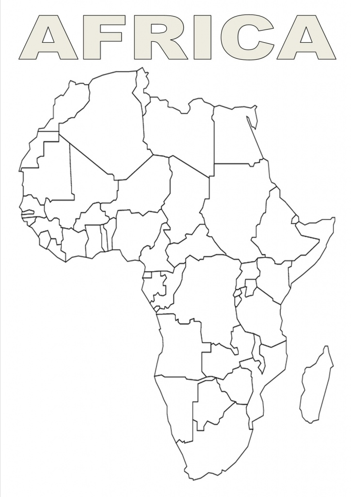 Map Of Africa Template   Silhouettes   Africa Outline, Map Outline - Africa Outline Map Printable