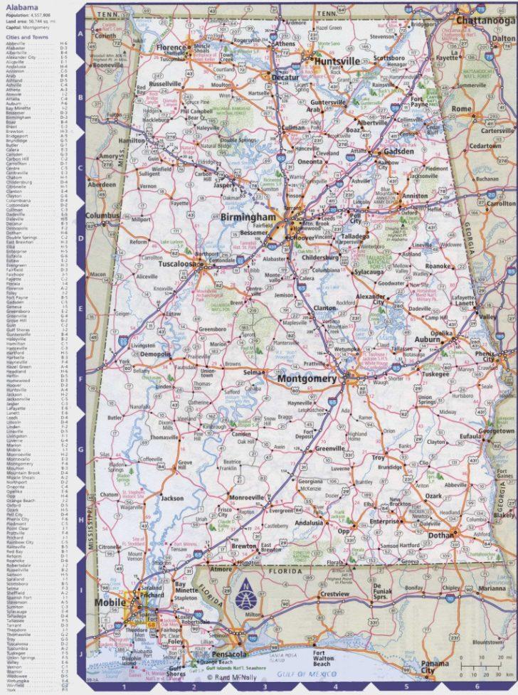 Printable Alabama Road Map