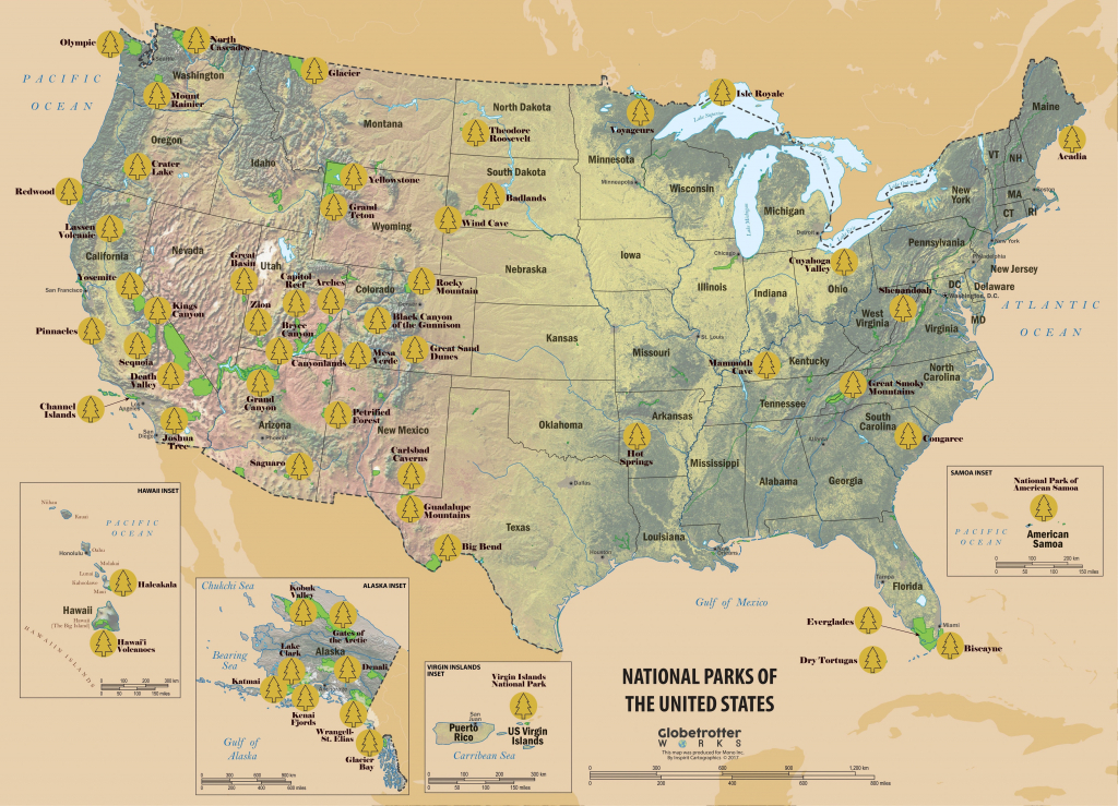 Map Of All Us National Parks National Parks Inspirational Beautiful - Printable Map Of National Parks