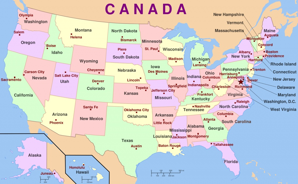 Map Of America States And Capital Cities | Download Them And Print - Printable Us Map With States And Capitals