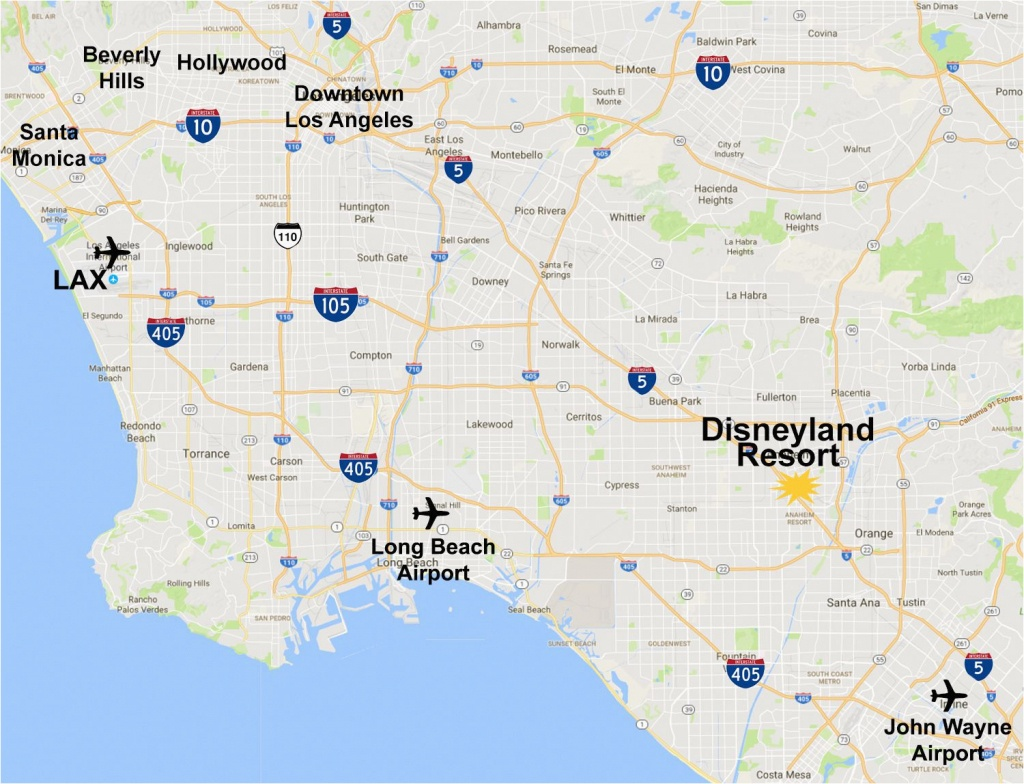Map Of Anaheim California Area Maps Of The Disneyland Resort - Map Of Anaheim California And Surrounding Areas