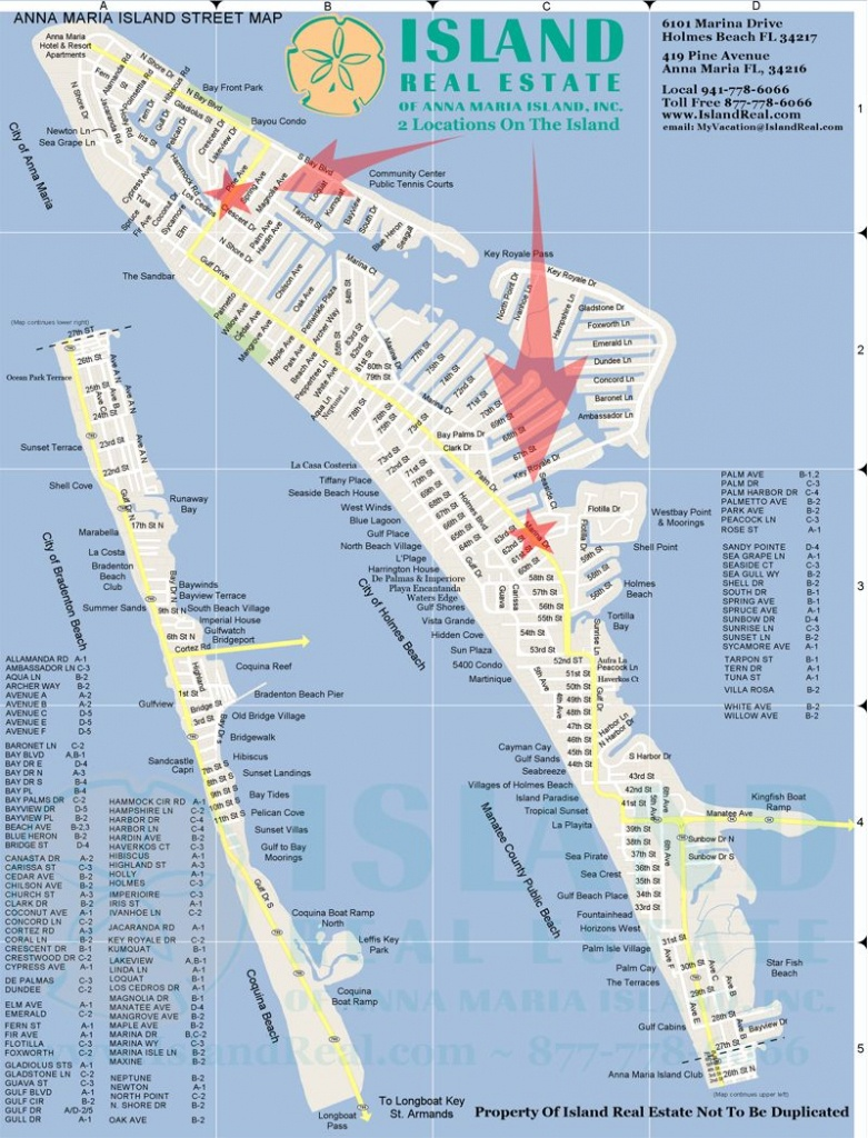 Map Of Anna Maria Island - Zoom In And Out. | Anna Maria Island In - Map Of Siesta Key Florida Condos