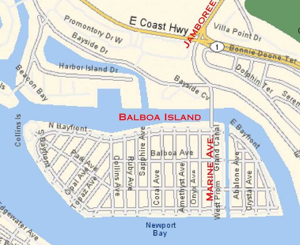 Map Of Balboa Island | Balboa Island And Misc Info | Newport Beach - Newport California Map