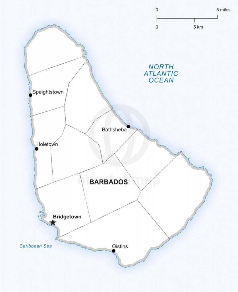 Map Of Barbados Political - Printable Map Of Barbados