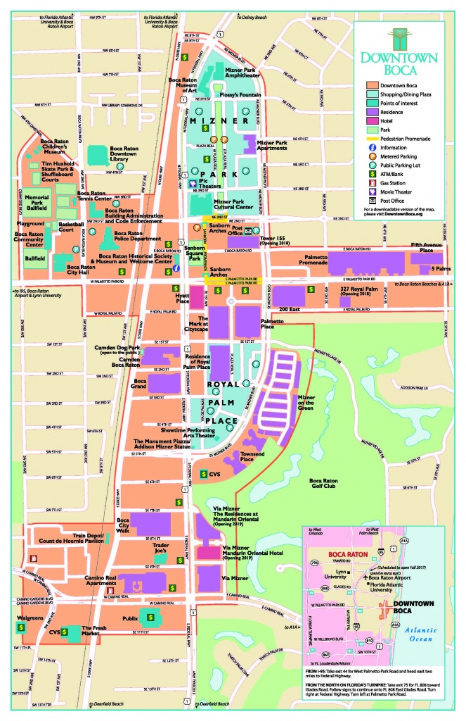 Map Of Boca Raton Area And Travel Information | Download Free Map Of - Map Of Florida Including Boca Raton