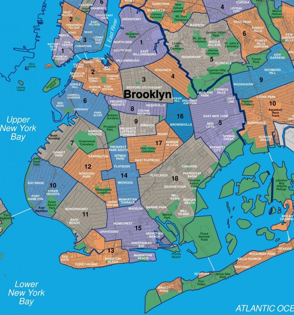 Map Of Brooklyn Neighborhoods - Printable Map Of Brooklyn