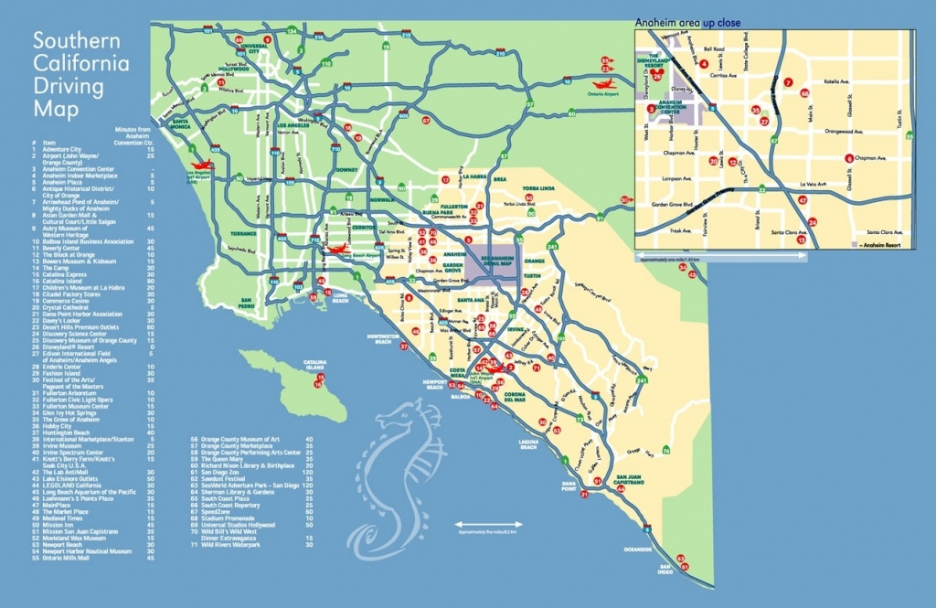 Map Of California And Anaheim – Map Of Usa District - Map Of California Anaheim Area