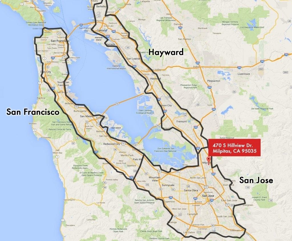 Map Of California. San Jose California Map – California Map - San Jose California Map
