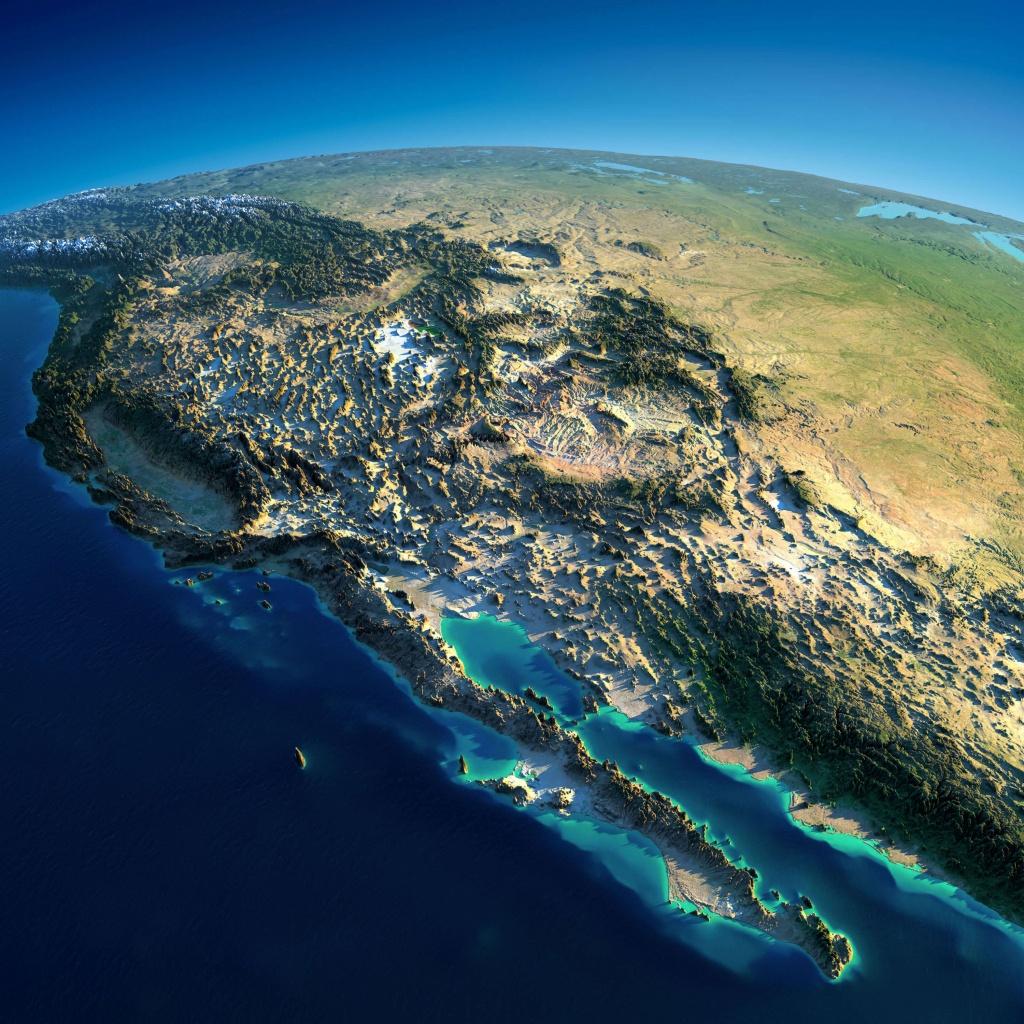 Map Of California - Satellite Map Of California