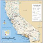 Map Of California State, Usa   Nations Online Project   Map Of California Coastline