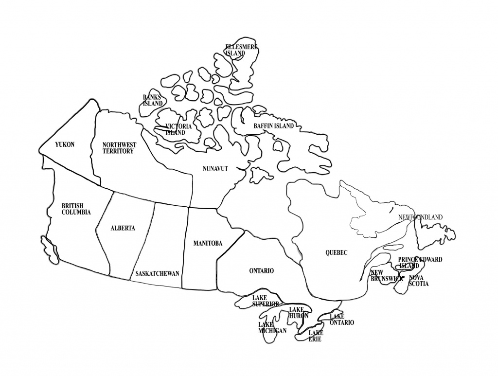 Map Of Canada   Homeschool   Canada For Kids, Map, Maps For Kids - Map Of Canada Black And White Printable