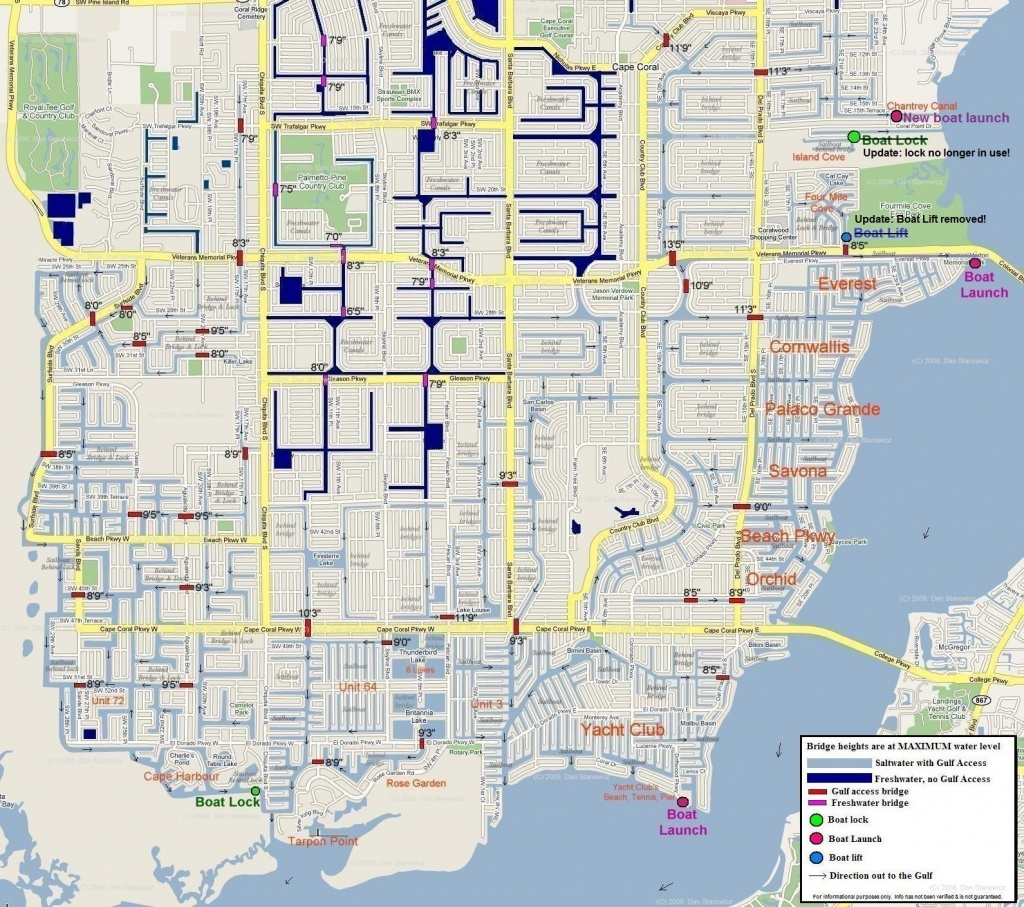 Map Of Cape Coral Florida - Map Of Florida Including Cape Coral