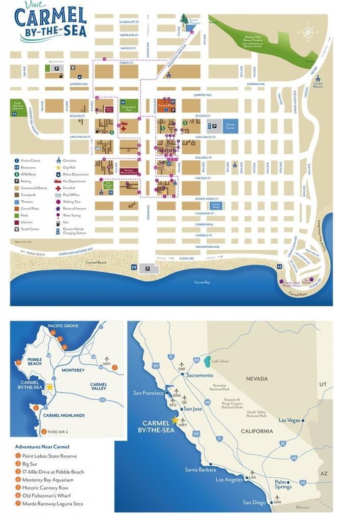 Map Of Carmel-By-The-Sea & Surrounding Areas (Media Kit - Carmel-By - Carmel California Map