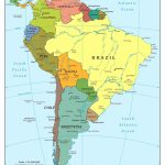 Map Of Central And South America | D1Softball   Printable Map Of Central And South America