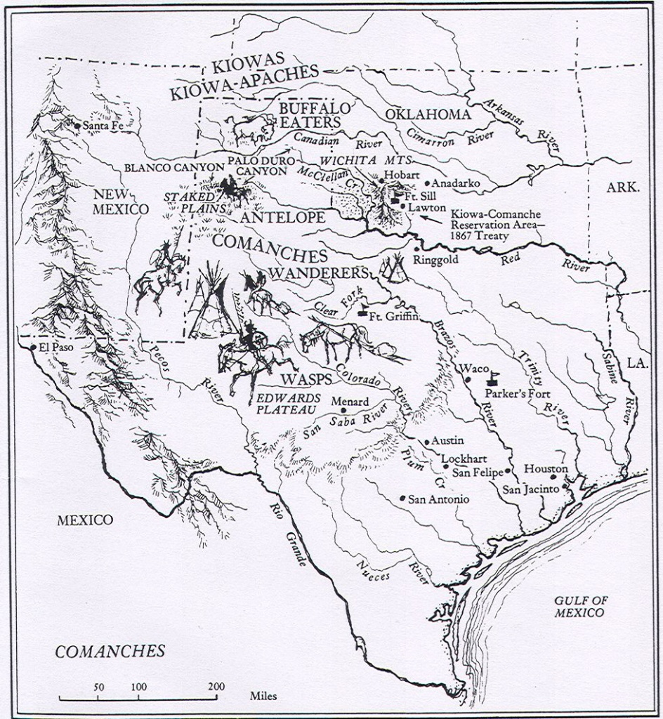 Map Of Comanche Texas | Jayce's Room | Comanche Indians, Comanche - Texas Indian Tribes Map