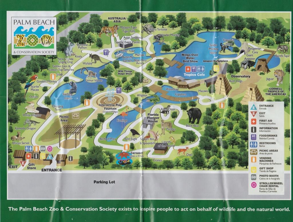 Map Of Complex | Palm Beach Zoo | Palm Beach, Map, Beach - Zoos In Florida Map