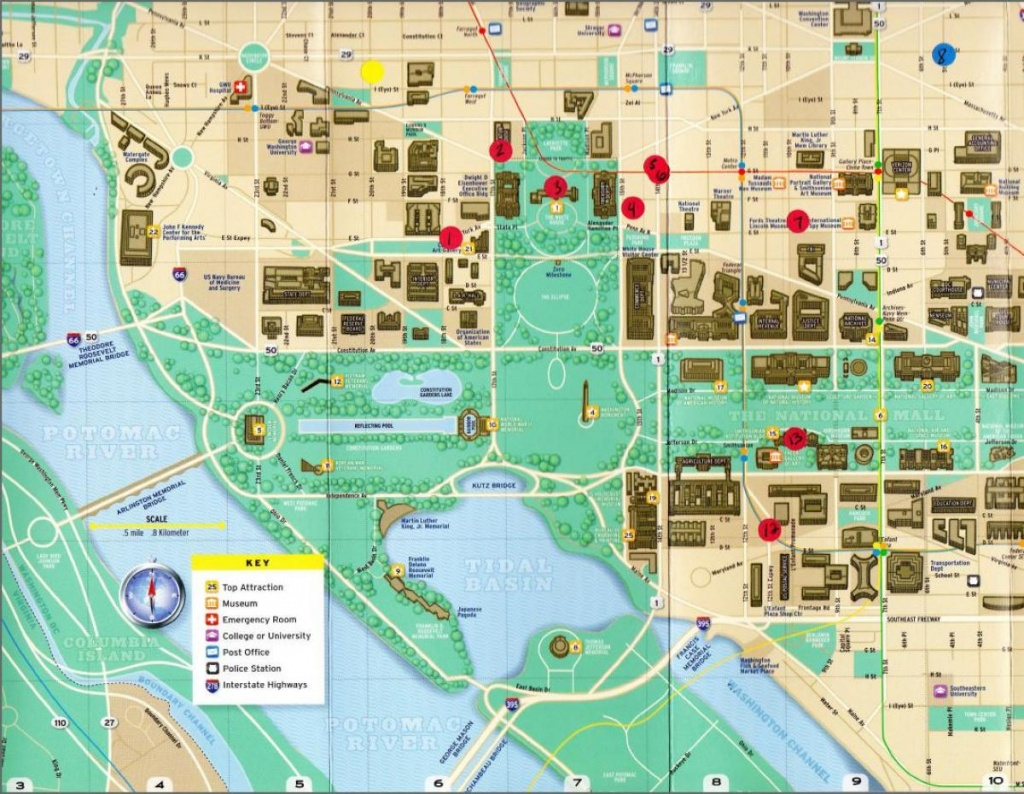 Map Of Dc Monuments And Memorials - Map Of Dc Monuments And - Printable Map Of Dc Monuments