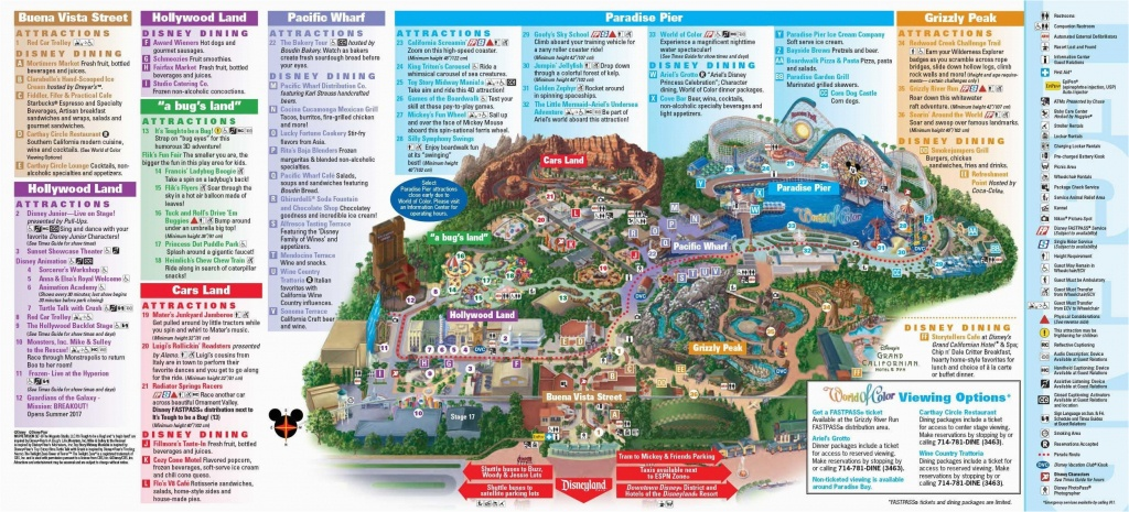 Map Of Disney California Adventure Park | Secretmuseum - Disneyland California Map