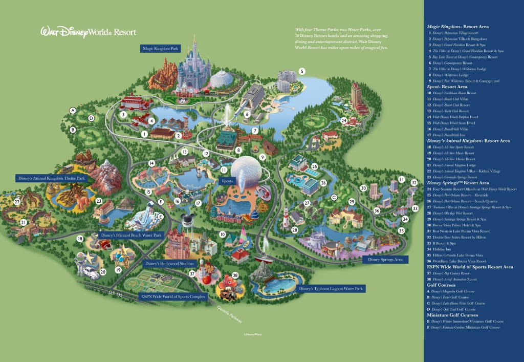 Map Of Disney World Resorts - Disney Resort Map Orlando (Florida - Usa) - Map Of Disney World In Florida