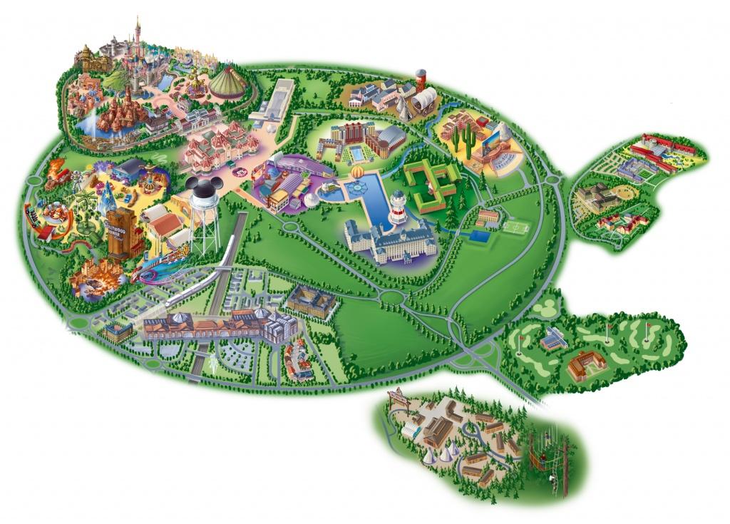 Map Of Disneyland Paris And Walt Disney Studios - Printable Disneyland Map