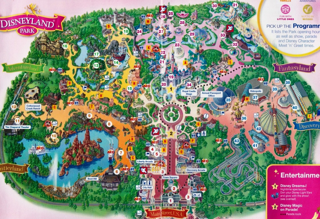 Map Of Disneyland Paris And Walt Disney Studios Regarding Disneyland - Printable Disneyland Map 2015