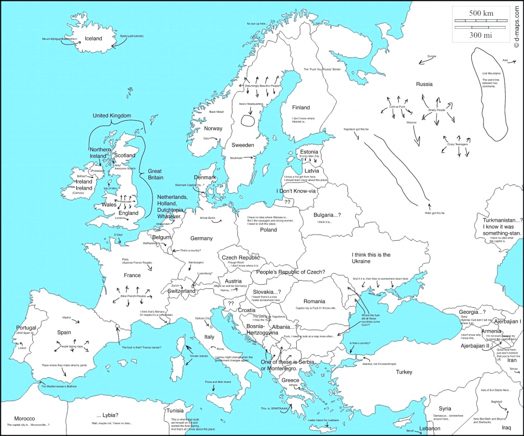 Map Of Europe Labeled - World Wide Maps - Printable Blank Map Of European Countries