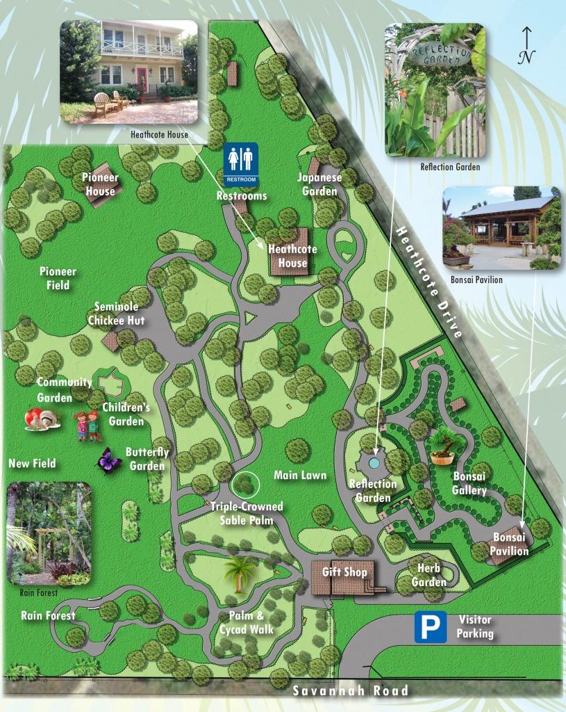 Map Of Exhibits - Heathcote Botanical Gardens - Florida Botanical Gardens Tourist Map