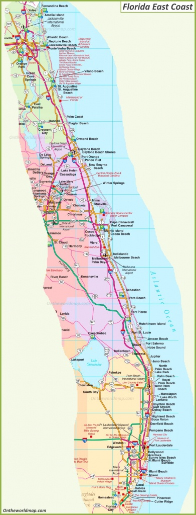Map Of Florida East Coast - Map Of Eastern Florida Beaches