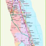 Map Of Florida East Coast   Map Of South Florida Beaches