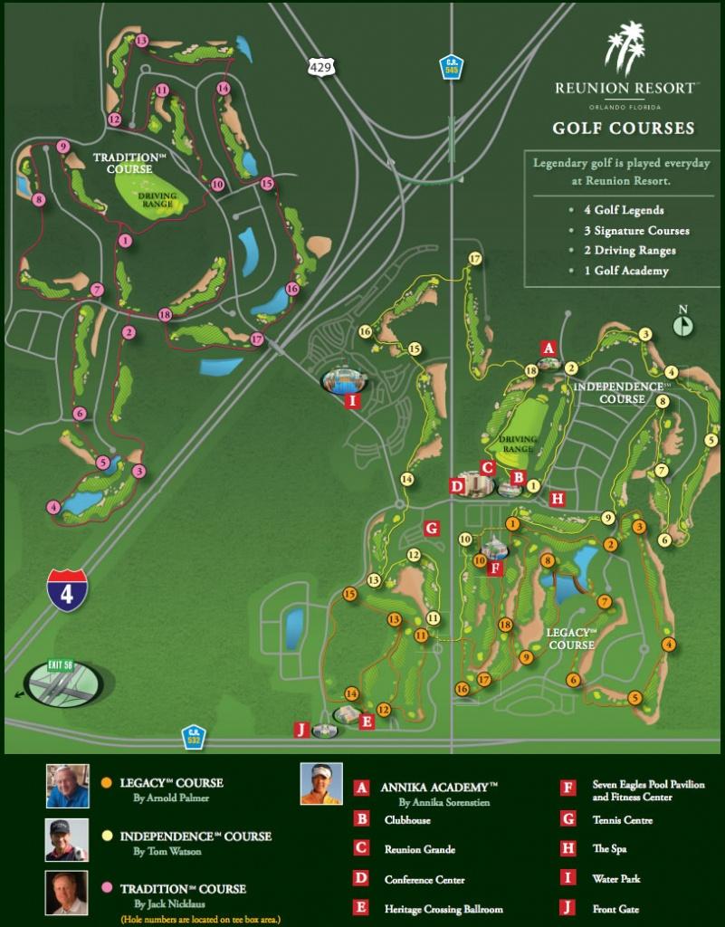 Map Of Florida Golf Courses - Capitalsource - Florida Golf Courses Map