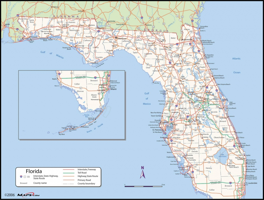 Map Of Florida State - Maps - Florida St Map | Printable Maps