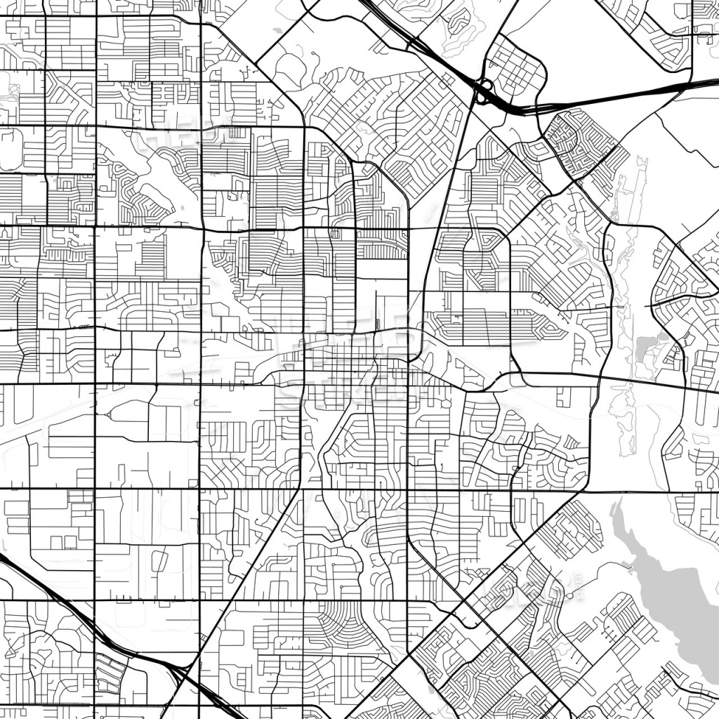 Map Of Garland, Texas | Hebstreits Sketches - Garland Texas Map