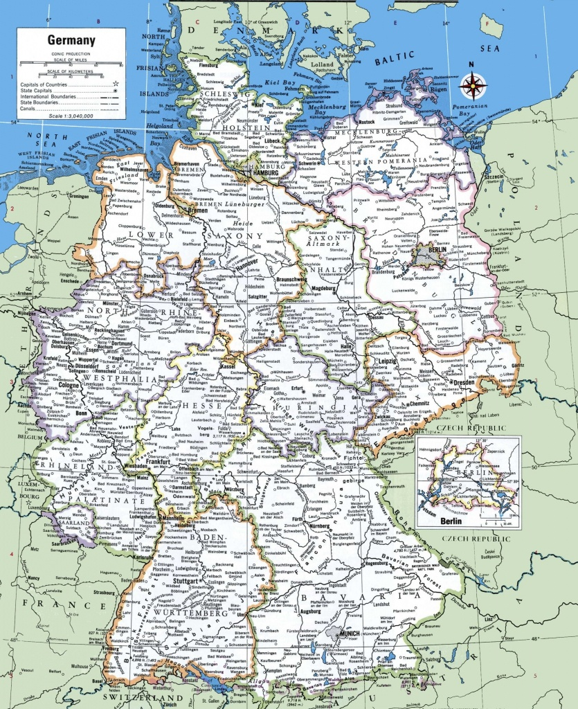 Map Of Germany With Cities And Towns   Traveling On In 2019 - Printable Map Of Germany