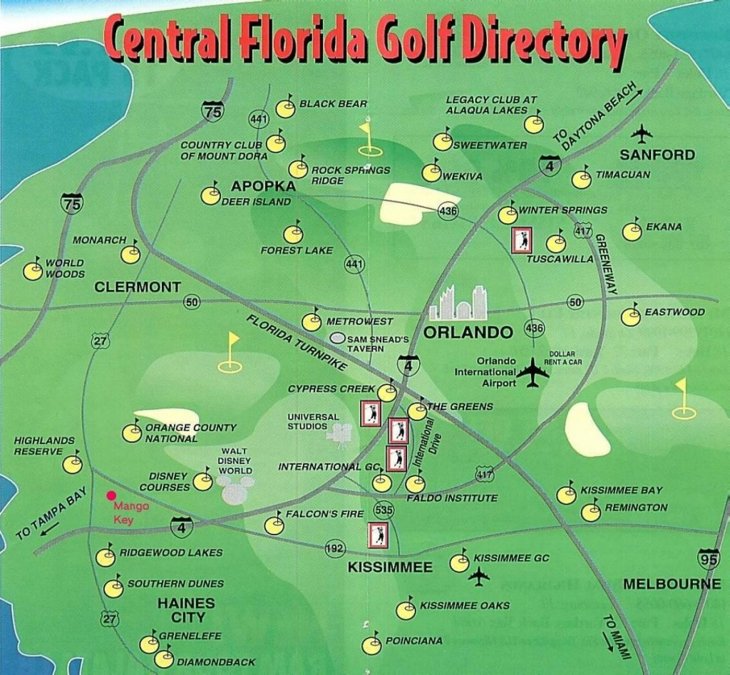 Map Of Golf Courses In Florida And Travel Information | Download - Best Golf Courses In Florida Map