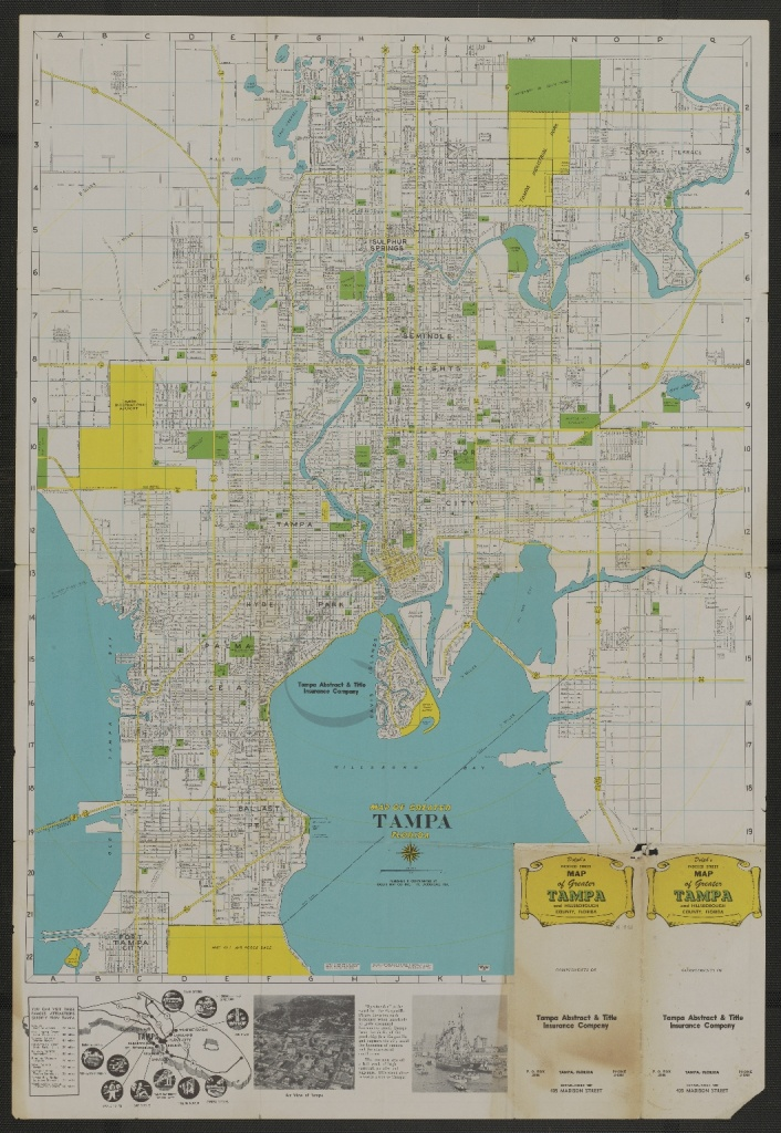 Map Of Greater Tampa, Florida - Touchton Map Library - Street Map Of Tampa Florida