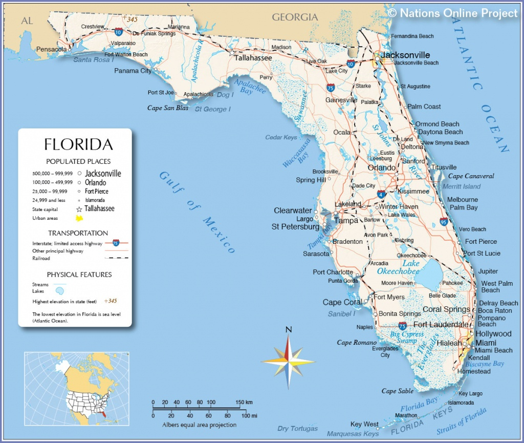 Map Of Gulf Coast Cities And Travel Information   Download Free Map - Map Of Vero Beach Florida Area