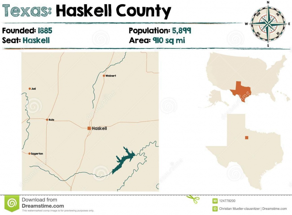 Map Of Haskell County In Texas Stock Vector - Illustration Of Nation - Rule Texas Map