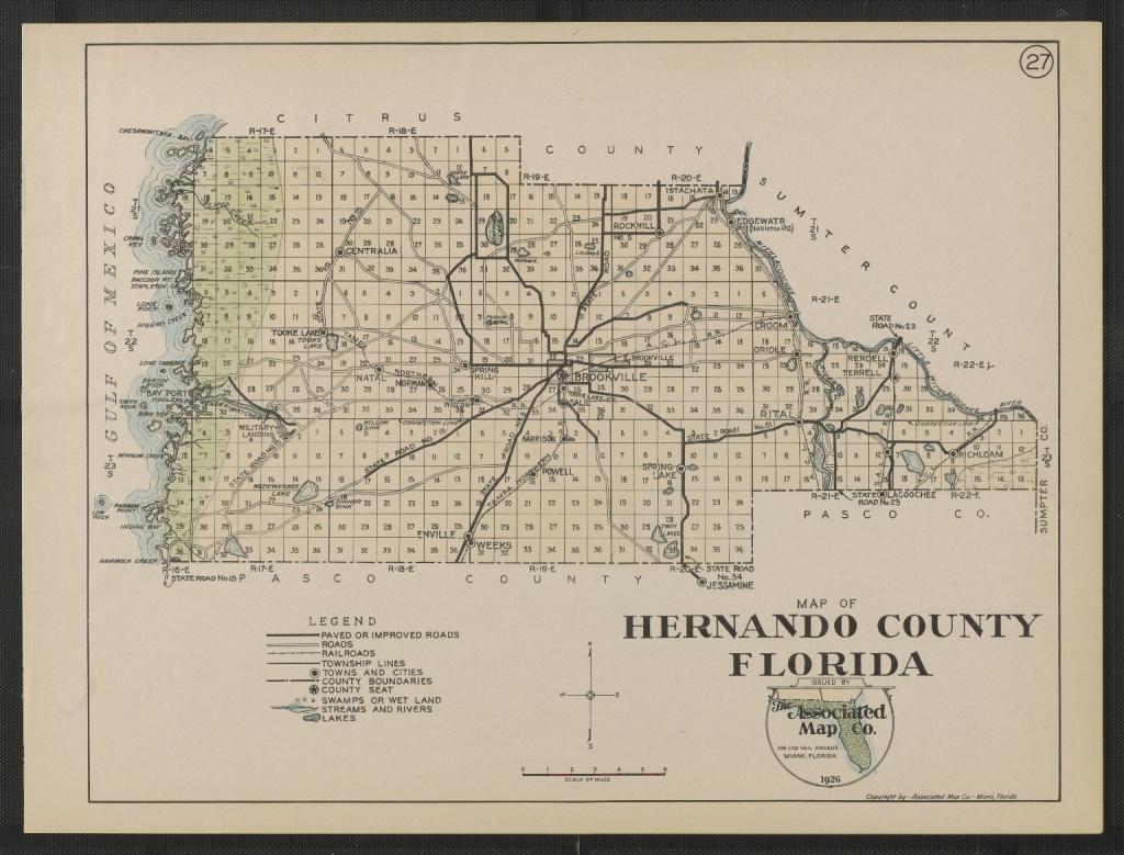 Map Of Hernando County Florida Sheet 27 - Touchton Map Library - Map Of Hernando County Florida