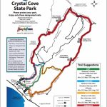 Map Of Hiking Trails | Crystal Cove   California State Parks Camping Map