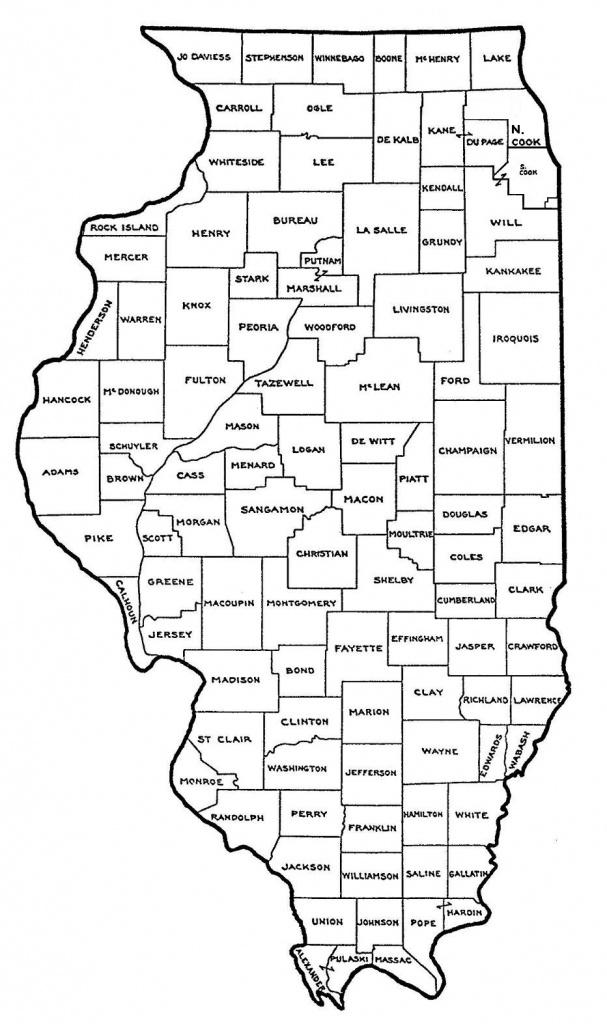 Map Of Illinois Counties | Sitedesignco - Illinois County Map Printable