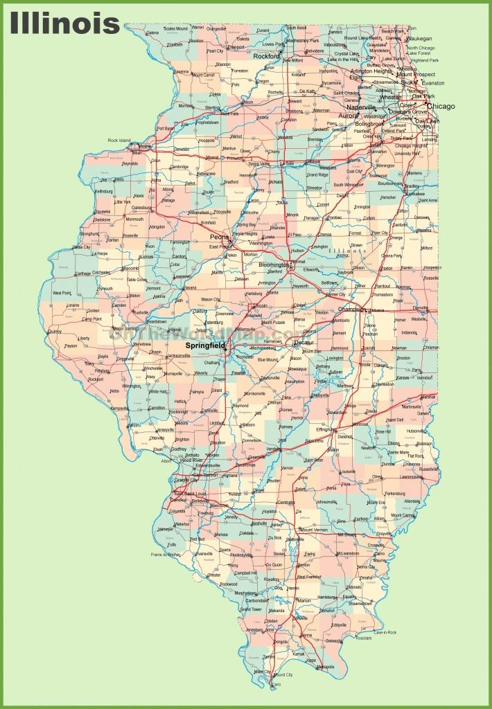Illinois County Map Printable