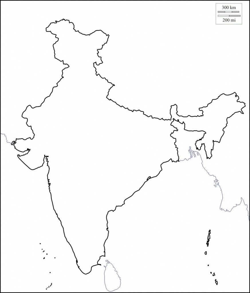 Map Of India Outline | Map Of India With States In 2019 | India Map - Printable Outline Map Of India