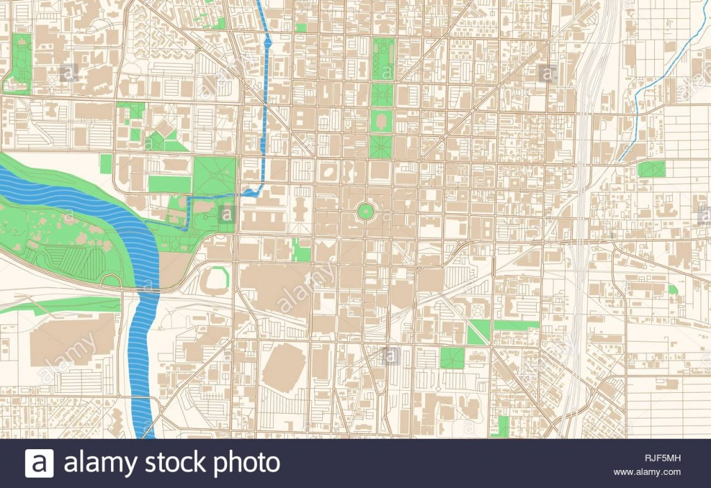 Map Of Indianapolis Stock Photos & Map Of Indianapolis Stock Images - Downtown Indianapolis Map Printable