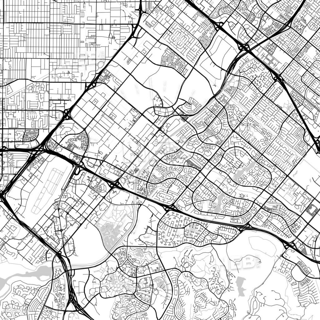 Map Of Irvine, California | Hebstreits Sketches - Irvine California Map